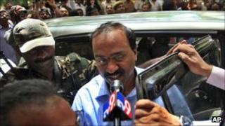 G Janardhana Reddy after his arrest on 5 September 2011