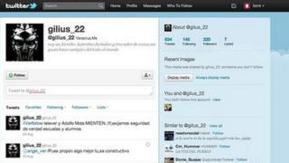 Twitter account of Gilberto Martinez Vera