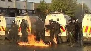 Police attacked in Belfast riot
