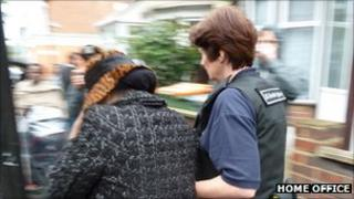 UK Border Agency raid in Forest Gate