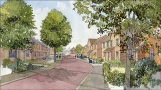 Artist's impression of proposed Longbridge East development