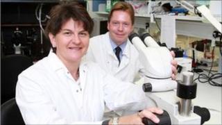 Enterprise Minister Arlene Foster and Professor Richard Kennedy