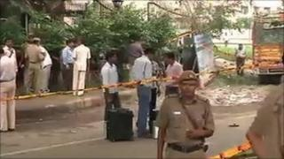 TV footage from the scene of the attack