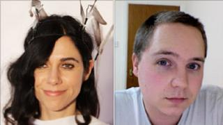 PJ Harvey the singer and PJ Harvey the computer programmer from Newcastle. Picture copyright: left Getty Images, right Phil Harvey