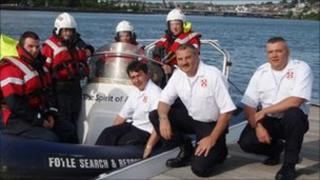 Members of the Foyle Search and Rescue team