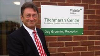 Alan Titchmarsh at the opening of the new building at Writtle College