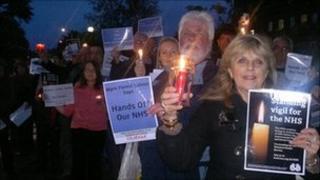 Kidderminster candle lit vigil
