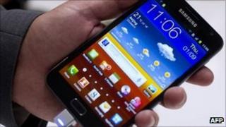 "A Samsung ""Galaxy Note"""
