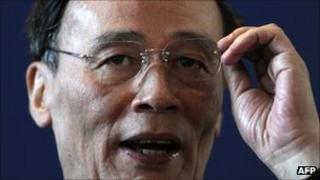 Chinese vice-premier Wang Qishan