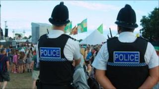 Police at Jersey Live