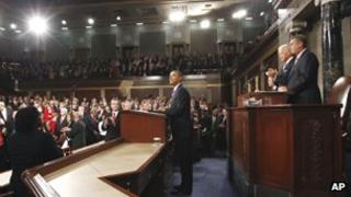 President Barack Obama speaks to a joint session of Congress at the Capitol in Washington, Thursday, Sept. 8, 2011.