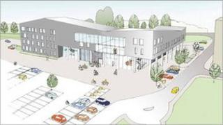 An artist's impression of the proposed new QEII hospital