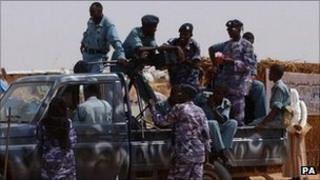 Police in Darfur (file photo)
