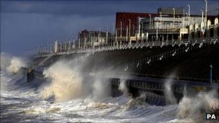 A stormy day at Blackpool