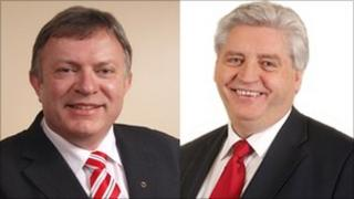 Patsy McGlone and Alasdair McDonnell