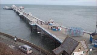 Llandudno pier and seafront
