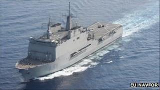 Spanish warship SPS Galicia (image EU Navfor)