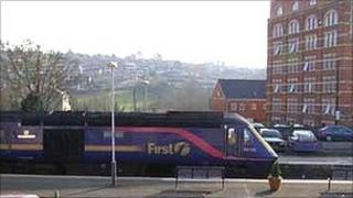 First Great Western train in Stroud