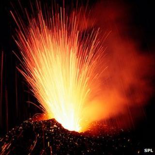 Etna erupting