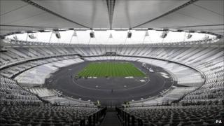 Olympic stadium in Stratford