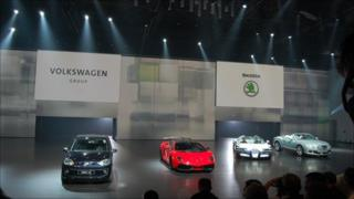 New models are shown off by VW ahead of the Frankfurt motor show
