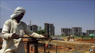 A construction site in Gurgaon, India