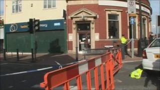 Scene of incident in Bedminster on Sunday