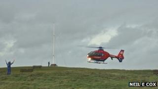 The air ambulance was involved in the incident Pic: Neil E Cox