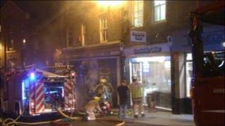 Fire on Wyle Cop
