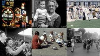 Montage of some of the films discovered by the London's Screen Archives project