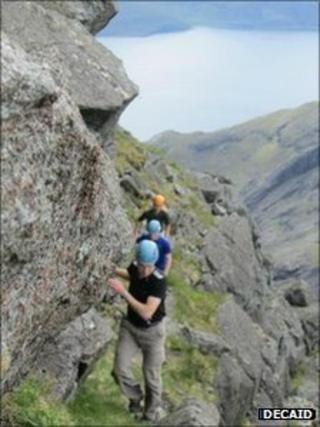 Climbing on Skye