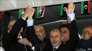 Mustafa Abdul Jalil in Tripoli on 12 September 2011