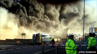Buckie fire [Pic: Steve Thornton]