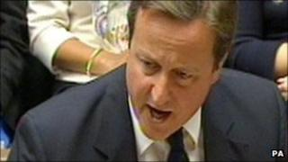 David Cameron at Prime Minister's Question Time