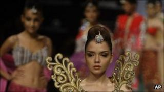 Models at a recent fashion show in Mumbai, India