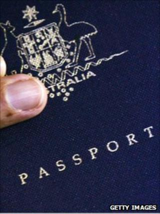 File picture of an Australian passport