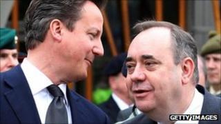 David Cameron, Alex Salmond