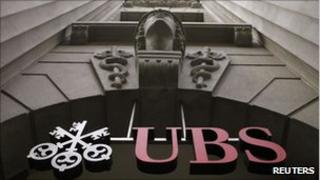 The logo of Swiss bank UBS is seen at the company's office at the Bahnhofstrasse in Zurich in this July 1, 2009 file photo.