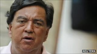Bill Richardson talks to the media in Havana on 13 September