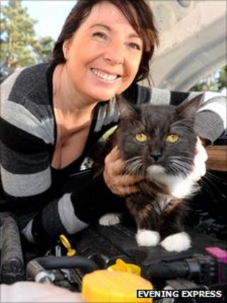 Diane Findlay and Kenzie [Pic: Evening Express]