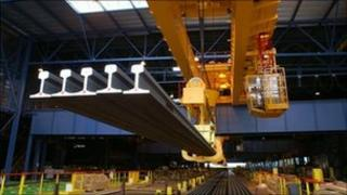Tata steel - rails in Hayange, France