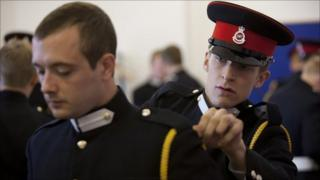 Officer Cadets Doak & Thompson