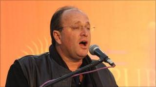 William Dalrymple, writer and director of the DSC Jaipur Literature Festival speaks on the first day of the Jaipur Literature Festival in Jaipur, on January 21, 2011.