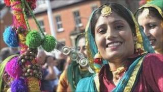 Dancers at the Llangollen International Musical Eisteddfod