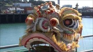 A dragon boat