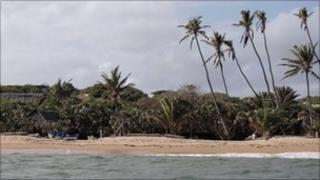 The beach near Kiwayu Safari village where holidaying British couple David and Judith Tebbutt were attacked