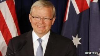 Kevin Rudd, pictured on 15 September 2011
