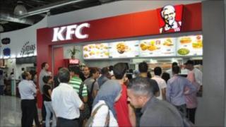 KFC in Ramallah