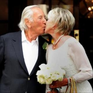 Michael Winner and Geraldine Lynton-Edwards