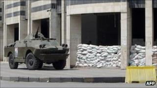 Archive photo of Syrian armoured vehicle in Homs, August 2011